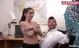 German Wife Joins Secretary Into Fucking her Boss