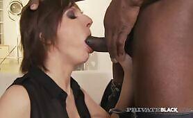 Hot Milf Nina Ass Packed By Big Black Cock!