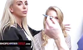 Blonde Milf Lisey Sweet Gets Suspended For Shoplifting And Penalized By The Security Guard