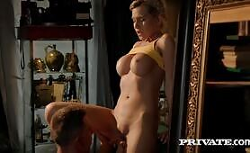 Horny Blonde MILF Subil Arch Gets A Creampie!
