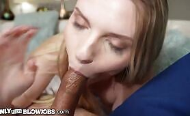 Flirty Blonde Nymph Blows Her Stepdad In Front Of Me OnlyTeenBlowjobs