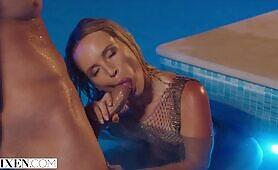 Stunning Blonde Kaisa seduces her bestie's new man
